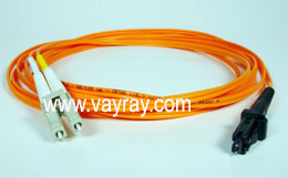 Multimode Duplex LC MTRJ Fiber Optic Patch Cable