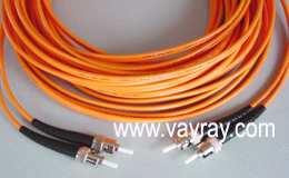 Multimode Duplex ST to ST Fiber Optic Patch Cable